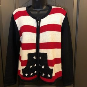 Christopher Banks American Flag 🇺🇸 L/S Sweater